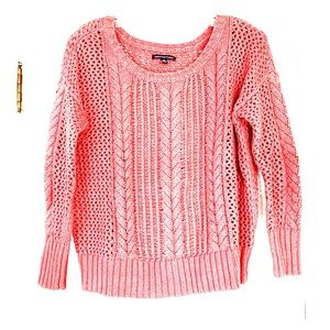 American Apparel cropped crochet blush sweater - S